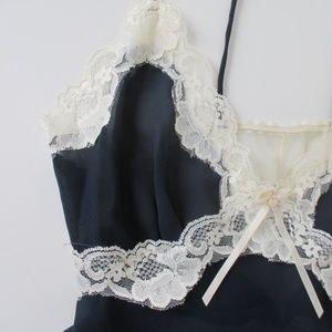 Vintage Intimates & Sleepwear - Vintage 90's Blue Lace Teddy Camiknicker M